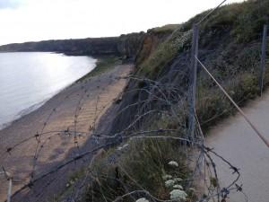 Point du Huc, Normandië. Niet het stukje strand waar we voetbalden.